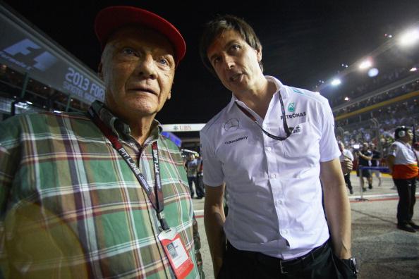 Niki Lauda és Toto Wolff
