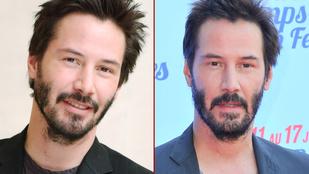 Tudja, melyik kép mikor készült Keanu Reevesről?
