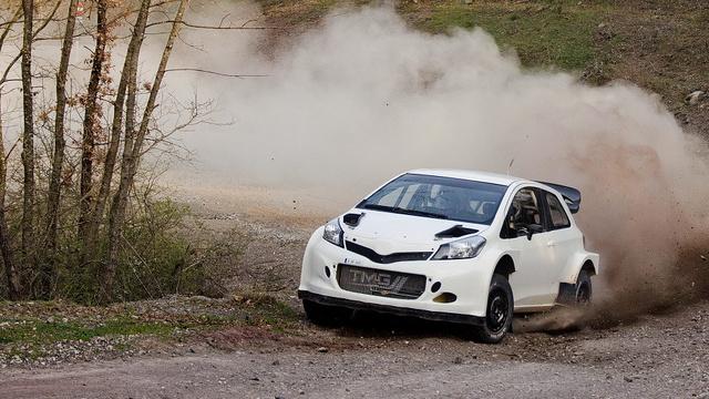 A Yaris WRC prototípusának egy korábbi tesztjén