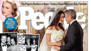 Itt az első kép Clooney nejének esküvői ruhájáról