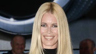 Claudia Schiffer ijesztően nézett ki