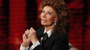 Valami nagyon tönkrement Sophia Loren fején