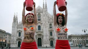 Véres mellekkel tiltakozott a FEMEN Putyin ellen