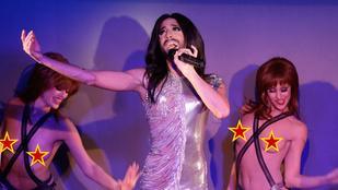 Conchita Wurst meztelen mellekkel lépett fel