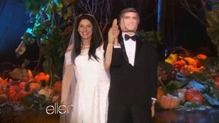 Ellen DeGeneresnek van egy Clooney-gumibabája