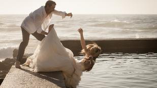 3 pofára ejtett menyasszony 3 videón