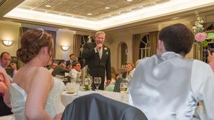 180 óra gyakorlás ment a jófej apuka esküvői meglepetésébe