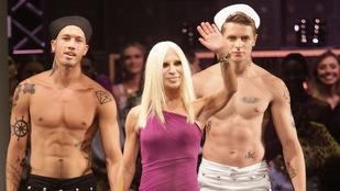 Donatella Versace szexi hátteret választott integetéshez