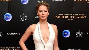 Jennifer Lawrence bimbótapasza bemutatkozott a világnak