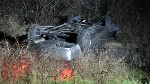 Durva baleset volt az éjjel az M2-esen