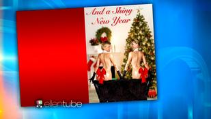 Kardashian olajos segge már karácsonyi üdvözlőlapon van