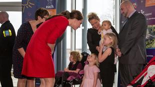 Katalin hercegné egy gyermekkórházban jótékonykodott