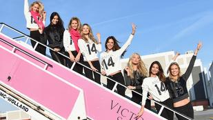 A Victoria's Secret modellek vetkőzés előtt is dögösek