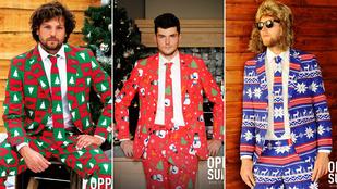261762bf1e Van jobb a karácsonyi alsónál: a karácsonyi öltöny