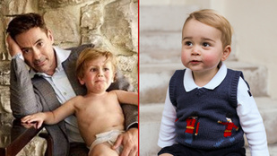 Robban a cukiságbomba: Robert Downey Jr. vagy György herceg babafotója menőbb?