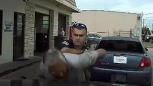 Idős férfit sokkolózott az agresszív rendőr