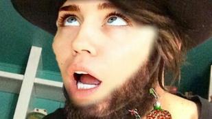 Tudja, milyen Miley Cyrus szakállal?