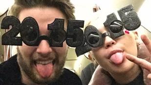 Miley Cyrus és Patrick Schwarzenegger együtt szilveszterezett