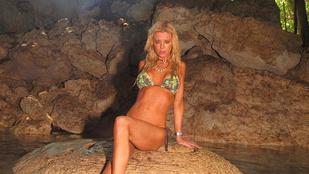 Nagyon bizarr fotók készültek a bikinis Tara Reidről