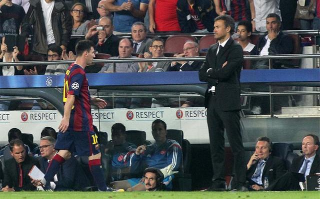 Luis Enrique és Messi nem egyeznek