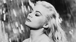Az édes élet gyönyörű színésznője Frank Sinátrával is járt