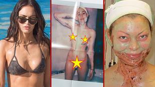 Bikinis Megan Fox és cukin alvó Mihalik: ezek voltak a hét képei
