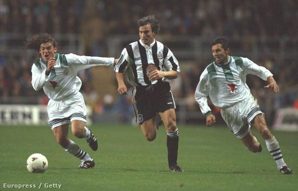 Ginola Newcastle-ben, a Fradi elleni UEFA-kupa visszavágón gólt is lőtt