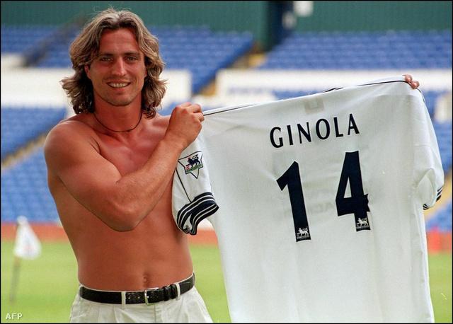 Ginola bemutatásán a Tottenhamnél