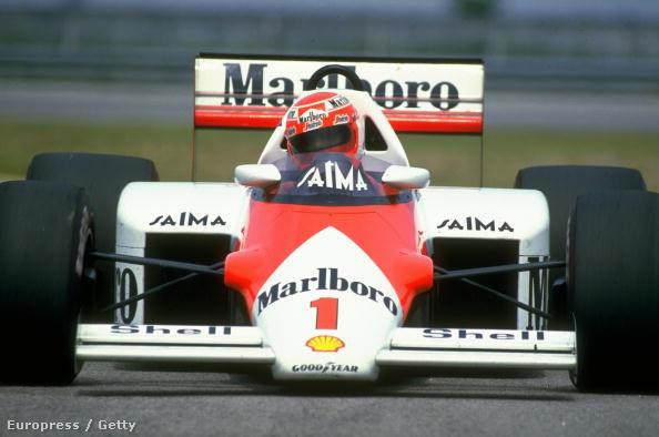 Lauda 1985-ben a McLaren TAG-Turbóval