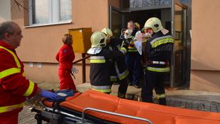 Kizuhant egy férfi az ablakon Budapesten
