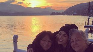Így örül a naplementének Nicole Scherzinger
