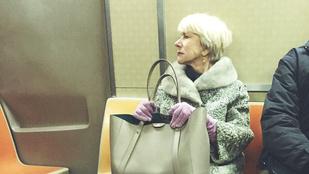 Tudja mi a sikkes? Helen Mirren a metrón!