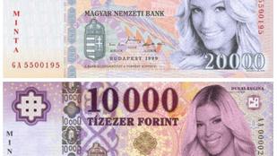 Álom: Ilyenek lennének a magyar glammodelles bankjegyek
