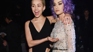 Miley Cyrus megcsöcsörészte Katy Perryt