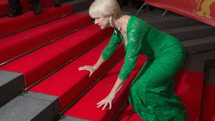 Helen Mirren hatalmasat esett a vörös szőnyegen
