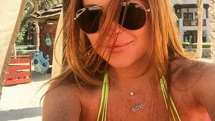 Lindsay Lohan jó bőrben van