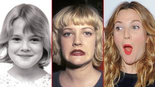 Drew Barrymore útja az E.T.-től a drogokon át, az anyaságig