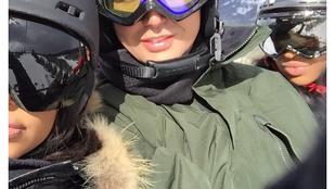 Autóbalesetet szenvedett kislányával Kim Kardashian