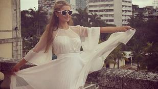 Paris Hilton Kubába vitte merev bimbóját