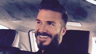 David Beckham szakálla elszabadult