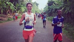Christy Turlington még futás közben is gyönyörű