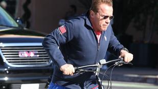 Schwarzenegger tökének meggyűlt a baja a biciklivel