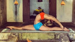 Ennél hajlékonyabb jógaoktatót ma már nem fog látni