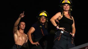 Félmeztelenül karneválozott a tűzoltógárda