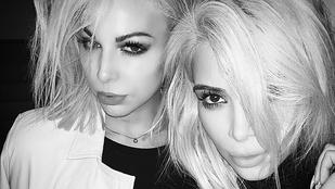 Kim Kardashian utánozza a sminkesét