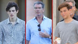 Íme Pierce Brosnan két, csodálatos genetikai adottságokkal rendelkező fia