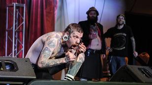 Elég durva horrorshow volt ezen a tetoválós eseményen