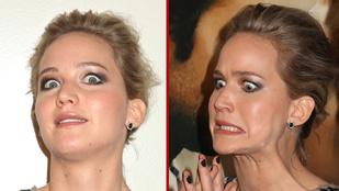 Jennifer Lawrence iszonyú vicces arcokat vágott