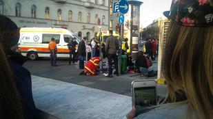 Négy embert ütöttek el a Deák Ferenc téren