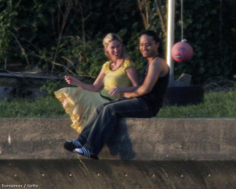 Egy évvel a házasságkötésük után, 2006-ban.